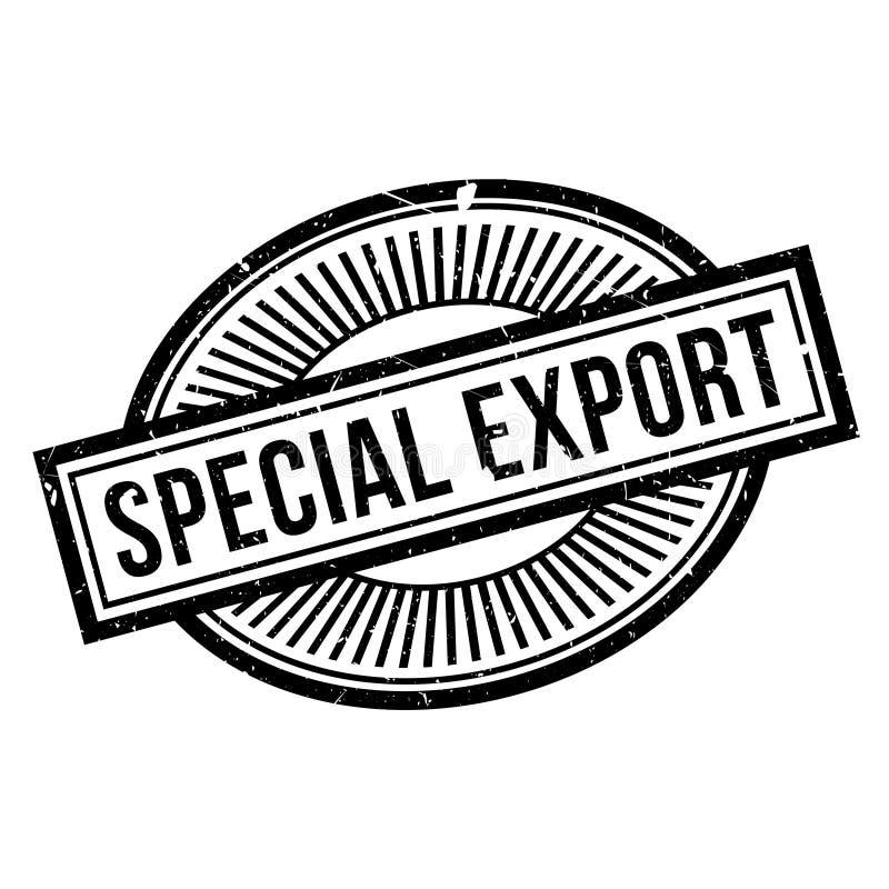 Carimbo de borracha especial da exportação ilustração stock