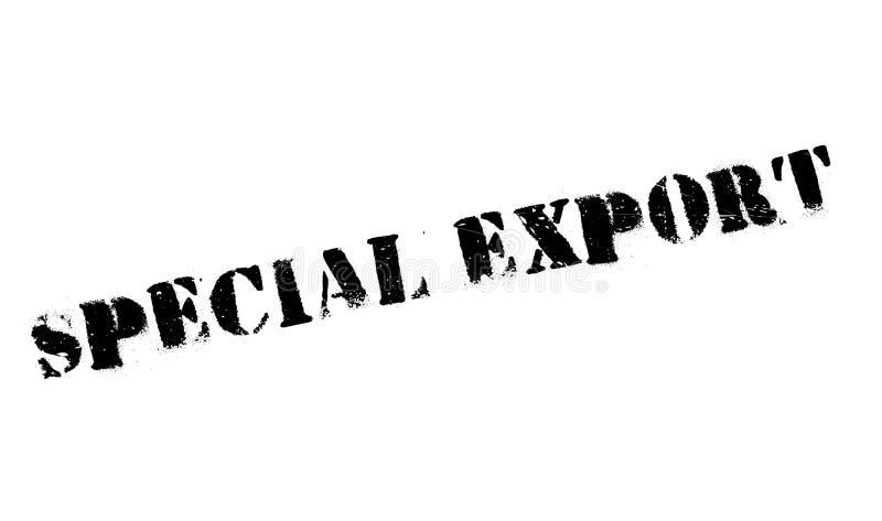 Carimbo de borracha especial da exportação ilustração royalty free