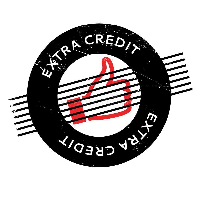 Carimbo de borracha extra do crédito ilustração stock