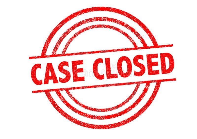 Carimbo de borracha fechado do caso ilustração royalty free