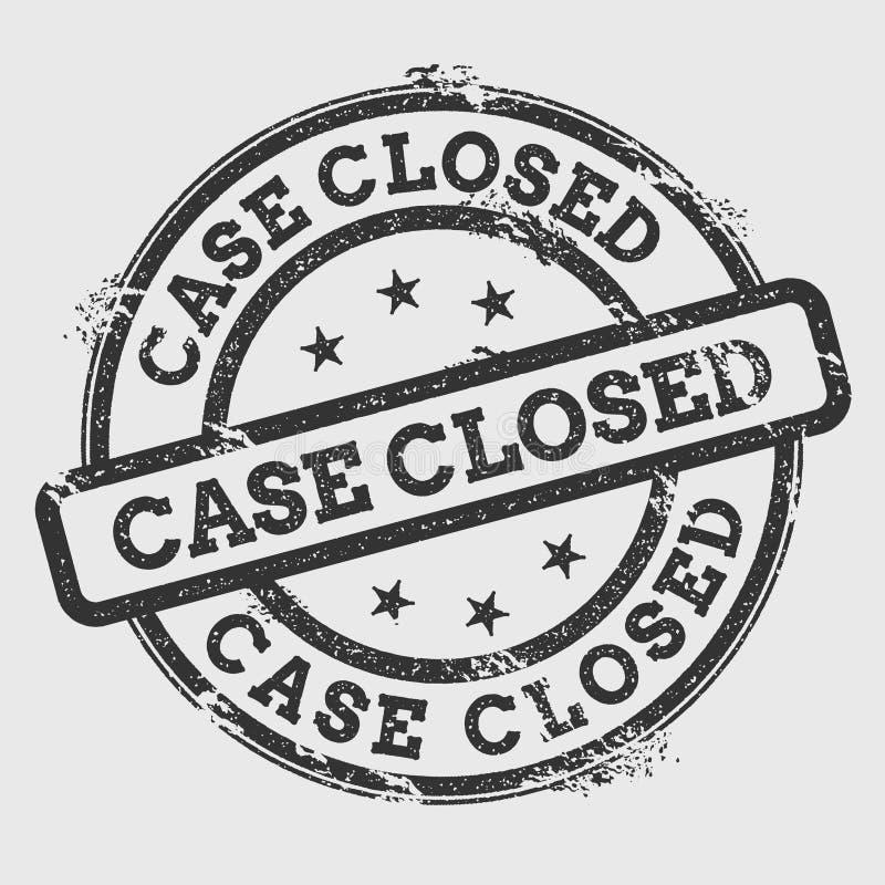 Carimbo de borracha fechado do caso isolado no branco ilustração royalty free