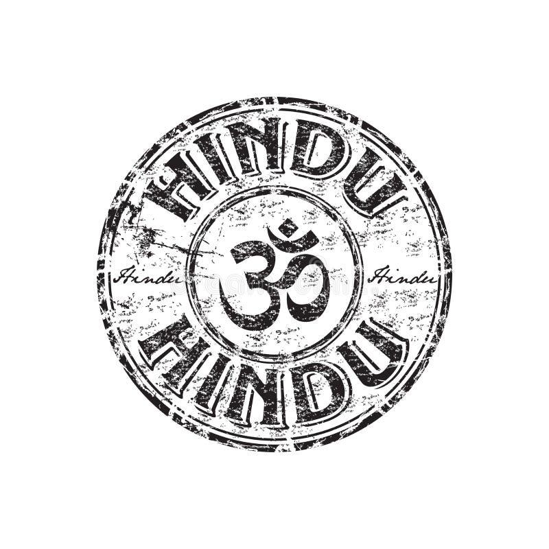 Carimbo de borracha Hindu do grunge ilustração do vetor