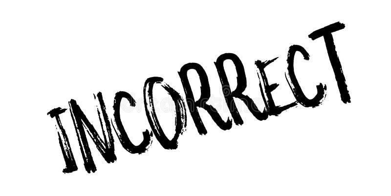Carimbo de borracha incorreto ilustração royalty free