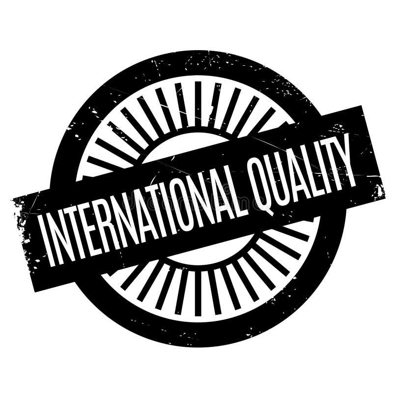 Carimbo de borracha internacional da qualidade ilustração stock