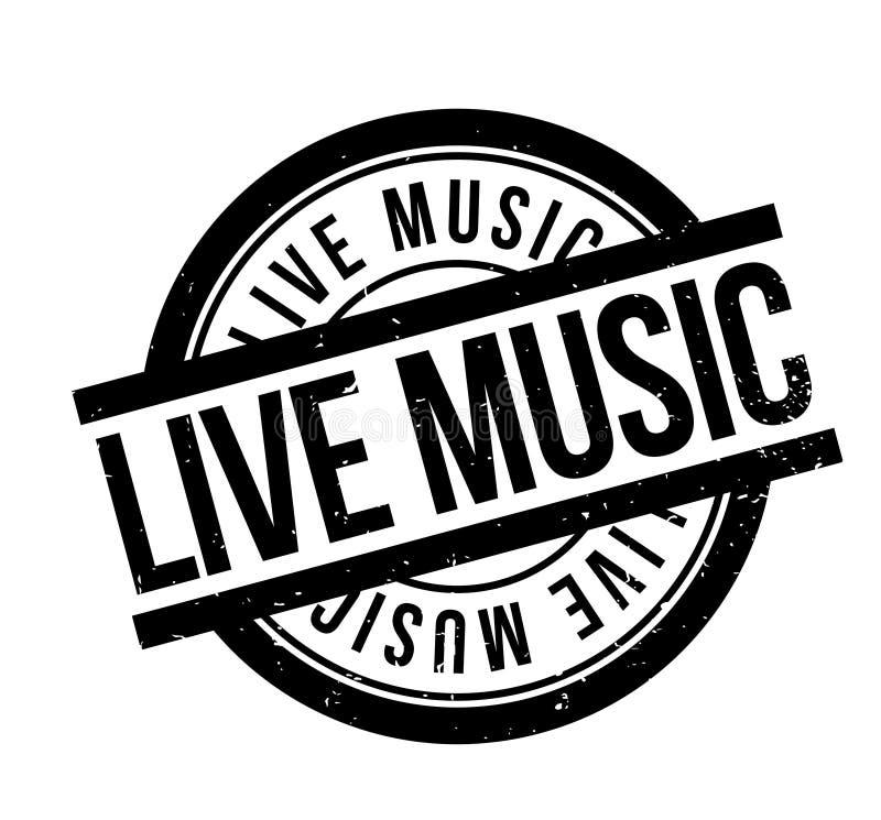 Carimbo de borracha de Live Music ilustração royalty free