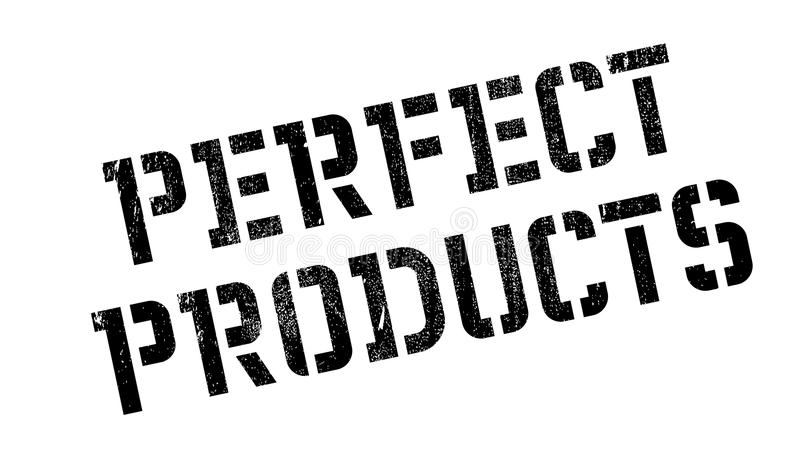Carimbo de borracha perfeito dos produtos imagens de stock