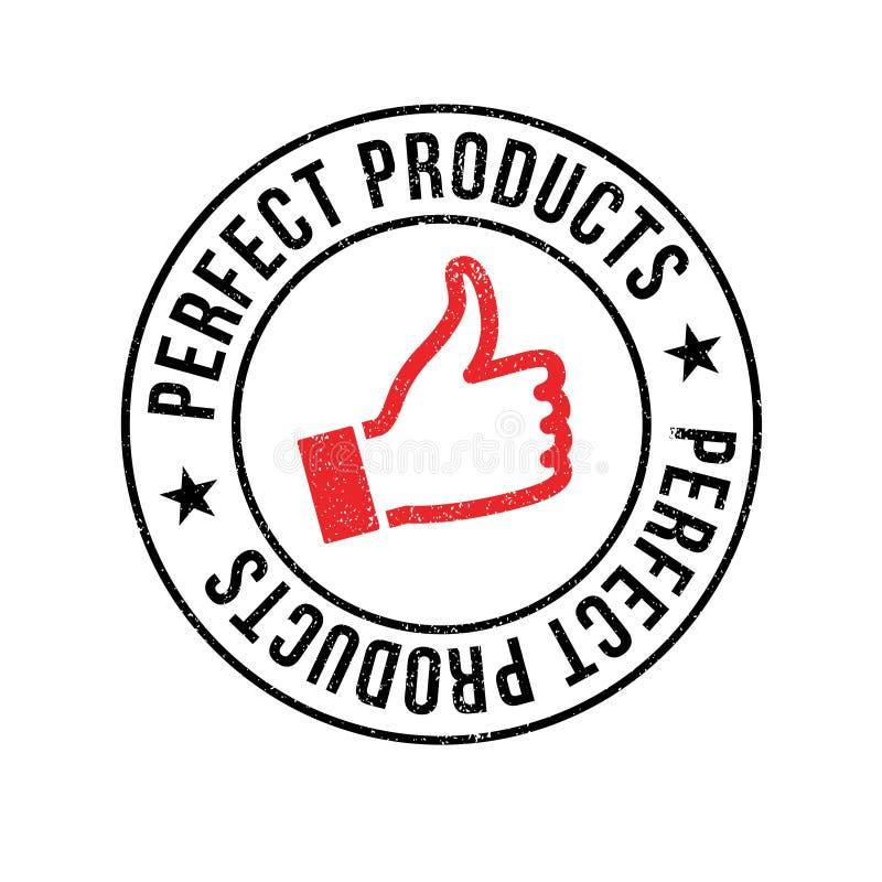 Carimbo de borracha perfeito dos produtos fotografia de stock royalty free