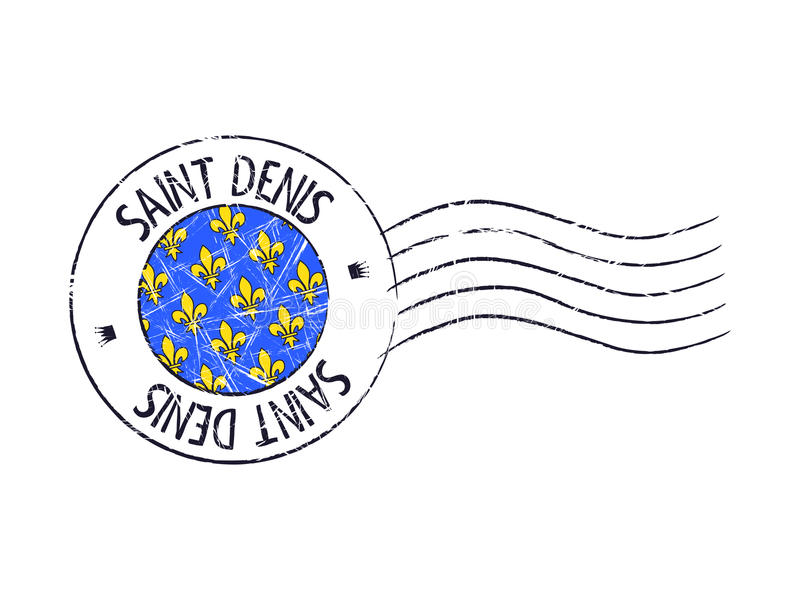 Carimbo de borracha postal do grunge da cidade de St Denis ilustração royalty free