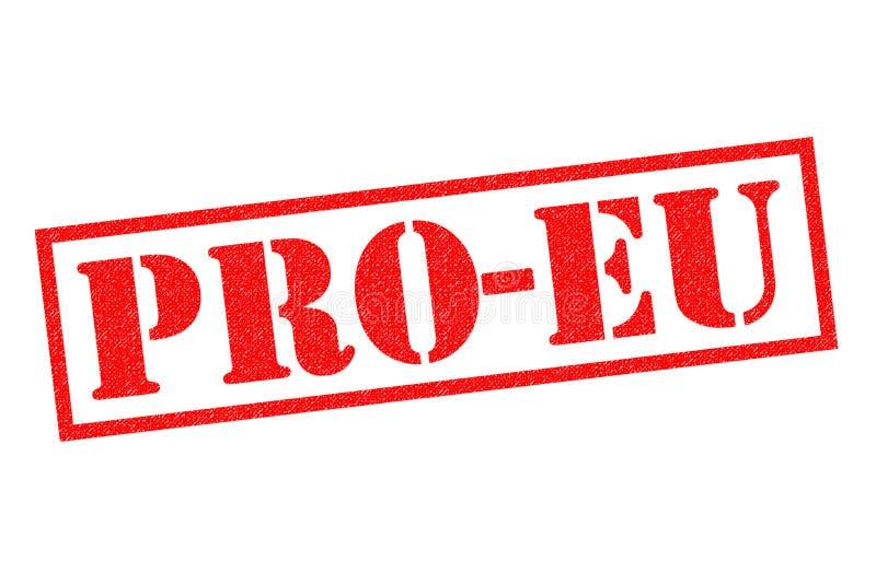 Carimbo de borracha de PRO-EU ilustração stock
