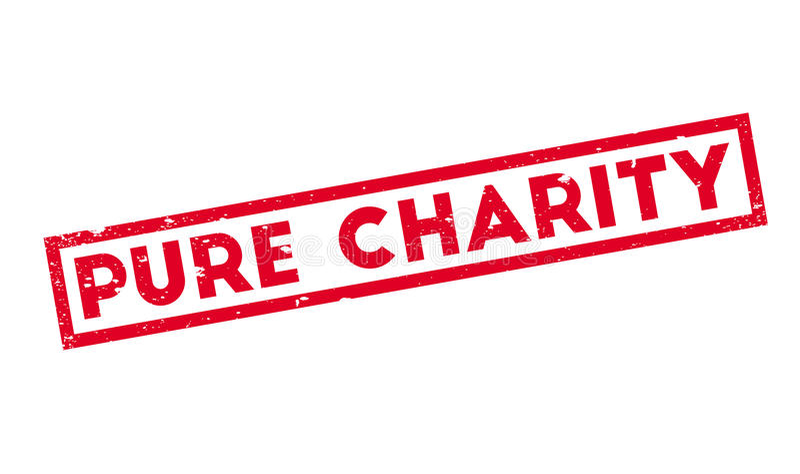 Carimbo de borracha puro da caridade ilustração royalty free