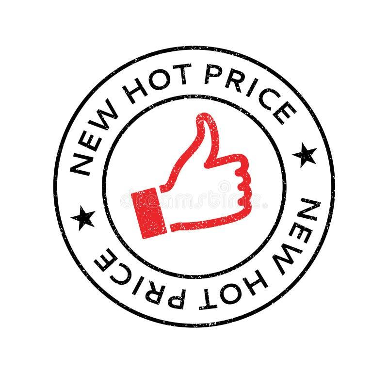 Carimbo de borracha quente novo do preço fotografia de stock