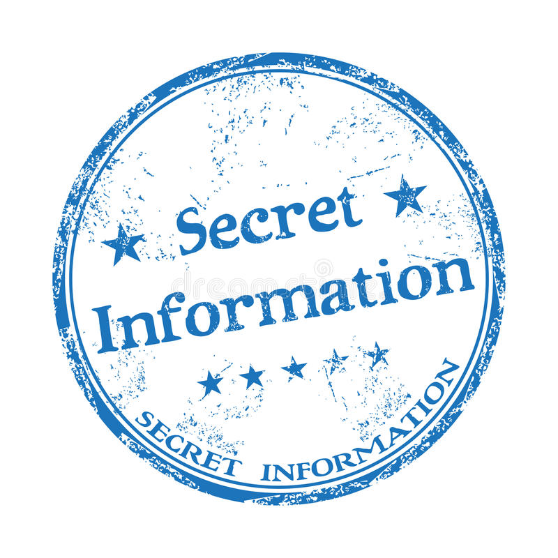 Carimbo de borracha secreto da informação ilustração royalty free