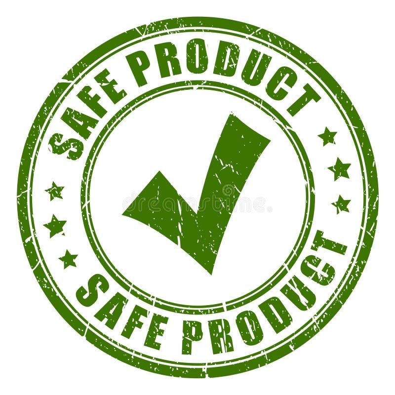 Carimbo de borracha seguro do produto ilustração stock