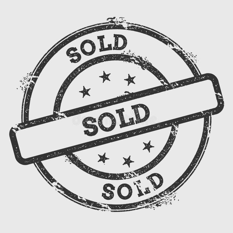 Carimbo de borracha vendido isolado no fundo branco ilustração royalty free