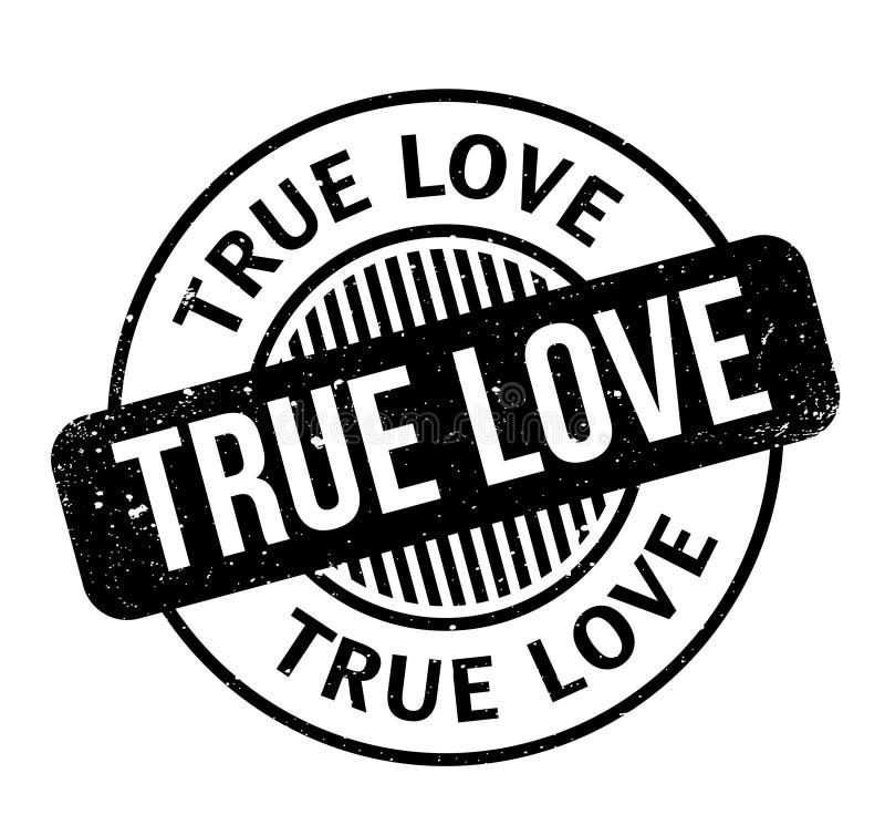 Carimbo de borracha verdadeiro do amor ilustração royalty free