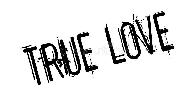 Carimbo de borracha verdadeiro do amor ilustração stock