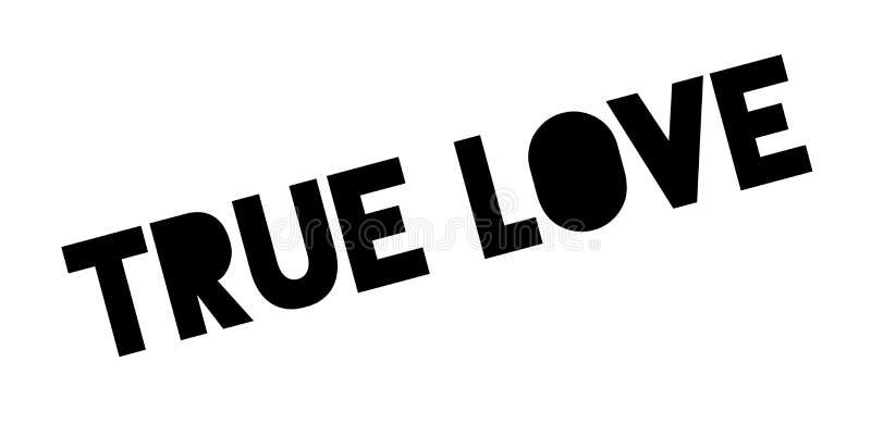 Carimbo de borracha verdadeiro do amor ilustração do vetor