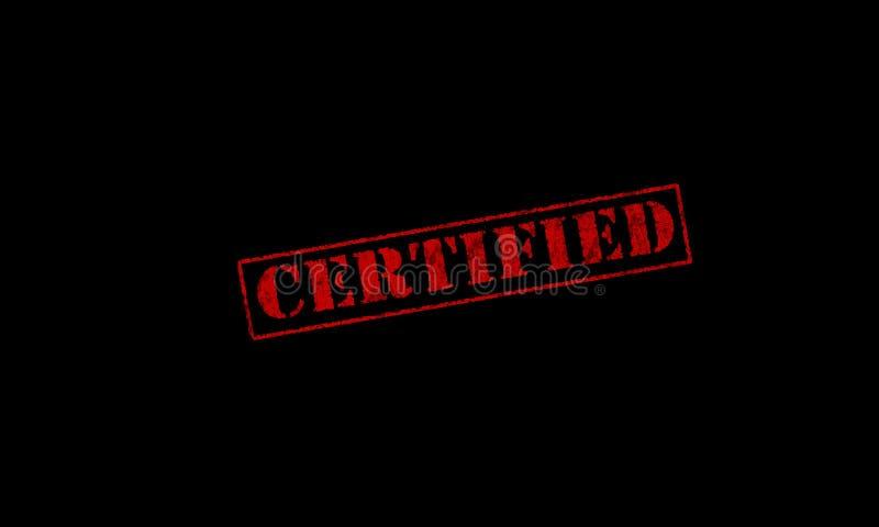 Carimbo de borracha vermelho certificado ilustração stock