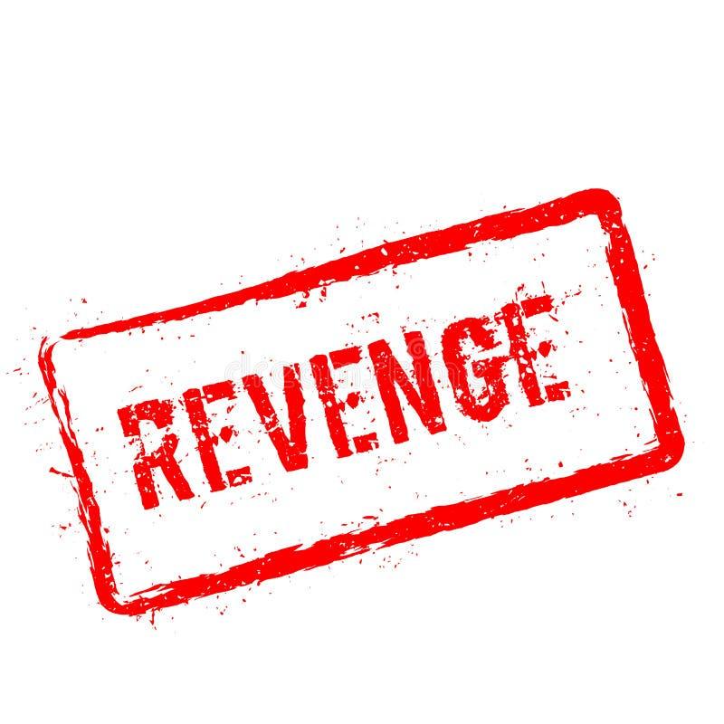 Carimbo de borracha vermelho da vingança isolado no branco ilustração do vetor