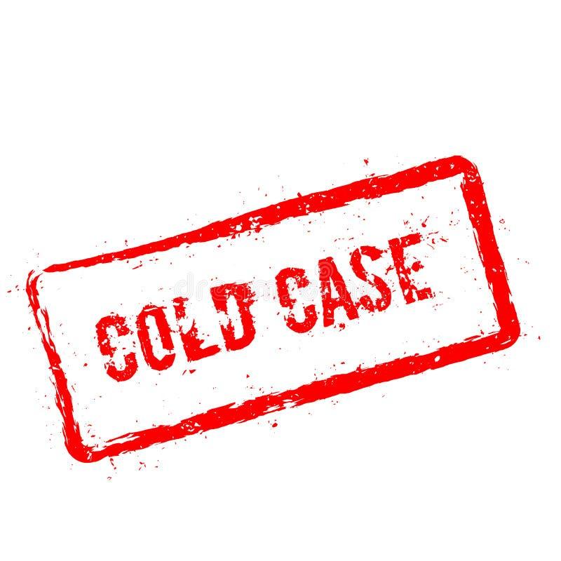 Carimbo de borracha vermelho do caso arquivado isolado no branco ilustração stock