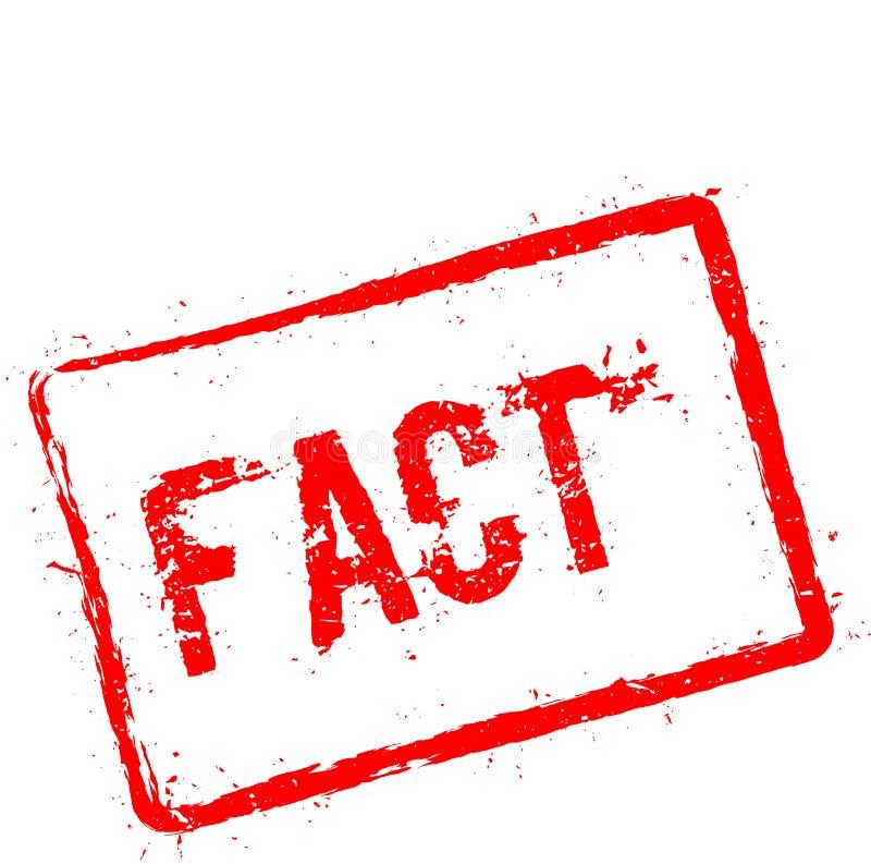 Carimbo de borracha vermelho do fato isolado no branco ilustração do vetor