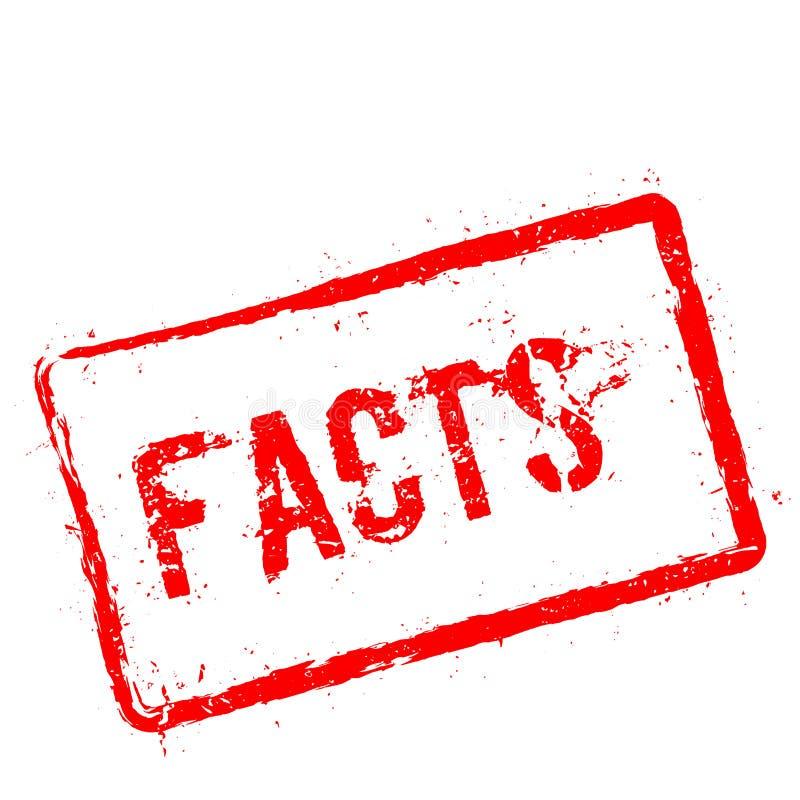 Carimbo de borracha vermelho dos fatos isolado no branco ilustração do vetor