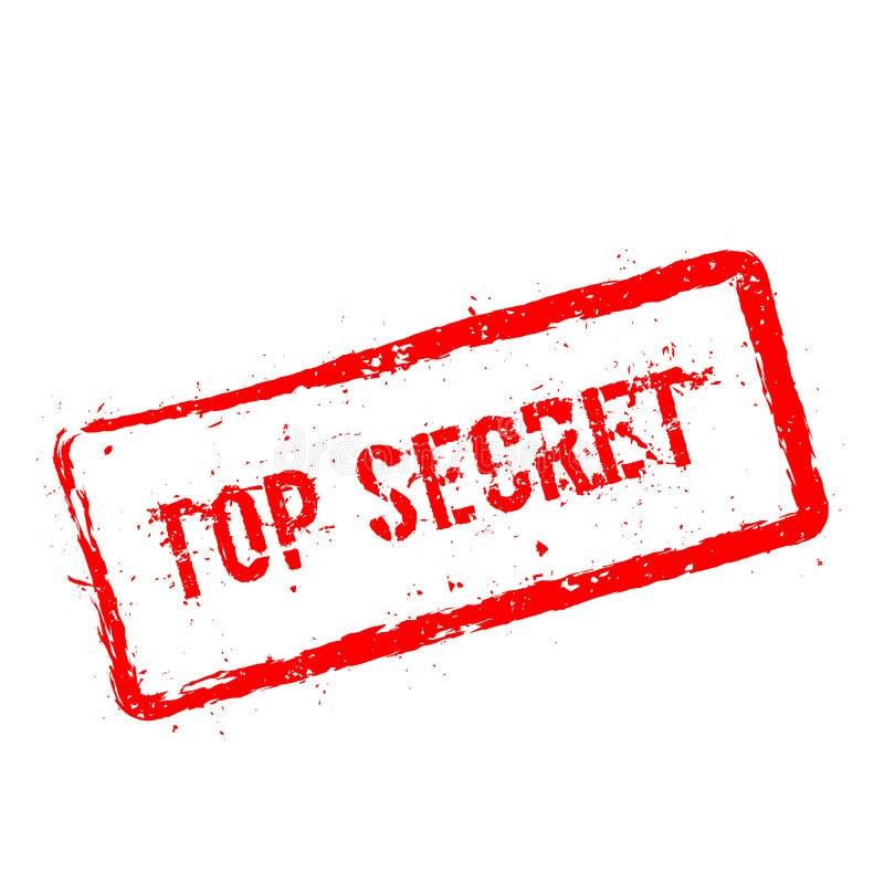 Carimbo de borracha vermelho extremamente secreto isolado no branco ilustração do vetor