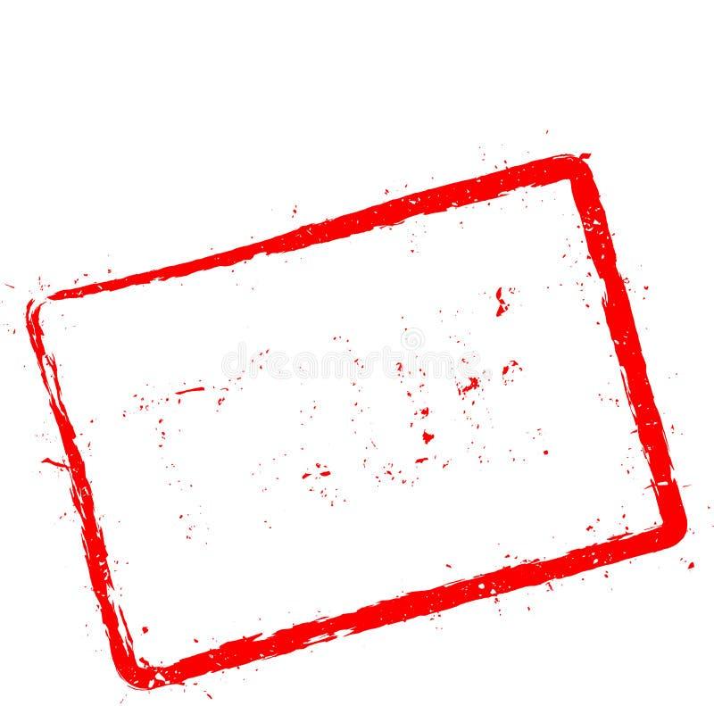 Carimbo de borracha vermelho VERDADEIRO isolado no branco ilustração stock