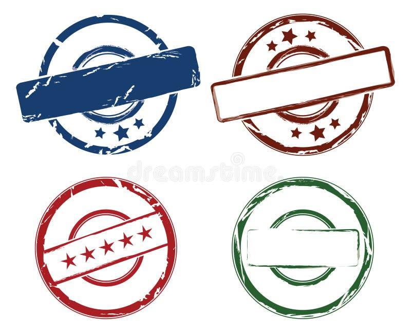 Carimbos de borracha ilustração royalty free