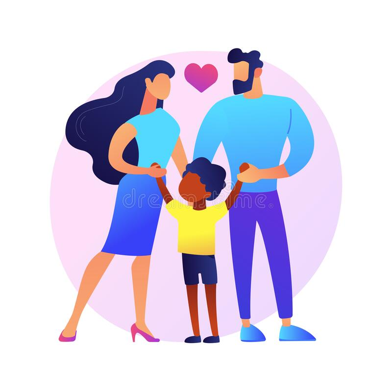 Young Family with Adopted African American Girl - Download Free Vectors,  Clipart Graphics & Vector Art