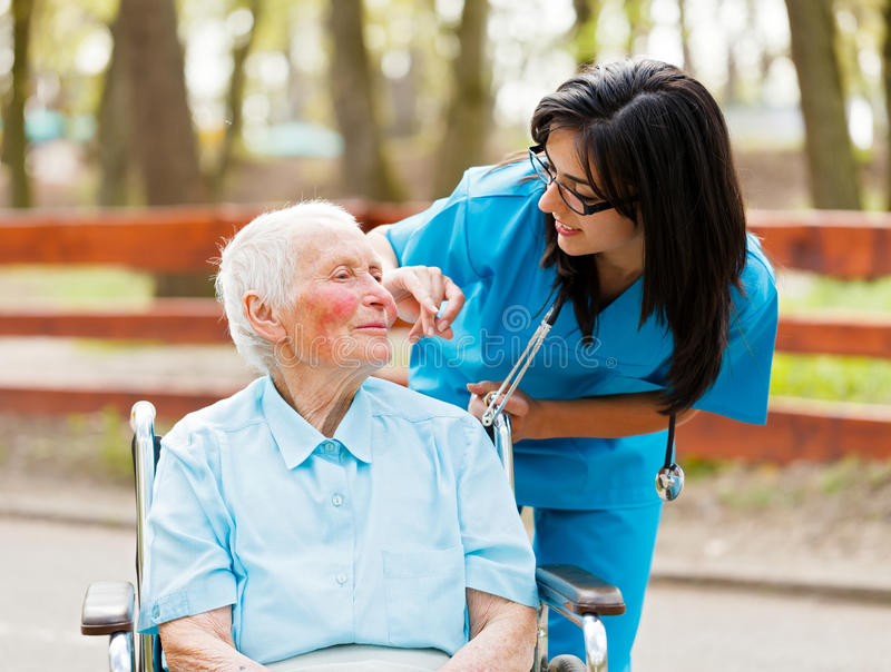 Caring Nurse royalty free stock images