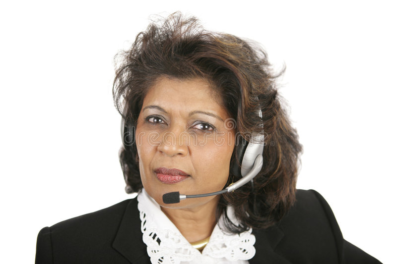 Caring Telephone Operator Royalty Free Stock Photography