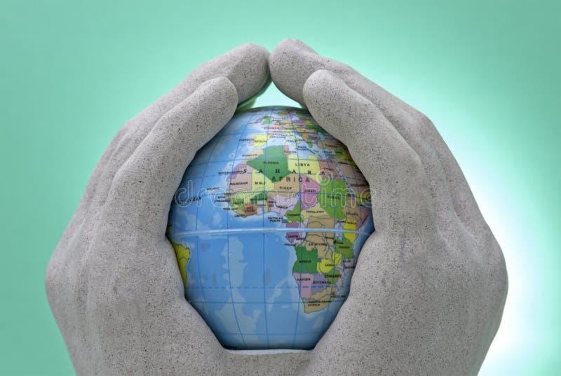 Caring World stock image