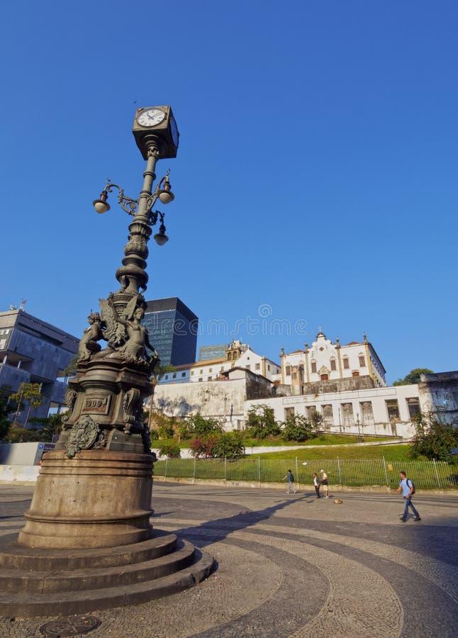 Carioca fyrkant i Rio de Janeiro royaltyfri bild