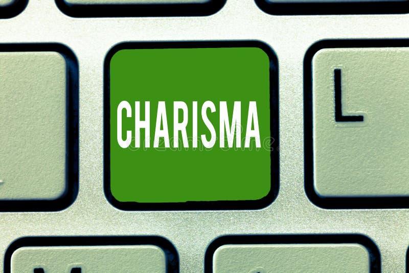 Carisma del testo della scrittura Attrattiva o incanto coercitiva di significato di concetto che ispirano la devozione in altre illustrazione di stock