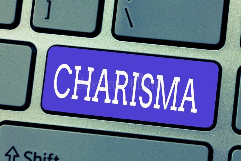 Carisma del texto de la escritura Atracción o encanto que obliga del significado del concepto que inspiran la dedicación en otras foto de archivo