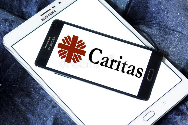 Caritas Internationalis logo fotografia stock