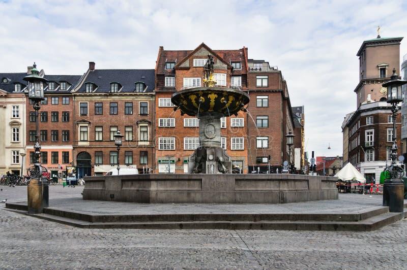 Caritas Well at Gammel Torv, cph royalty free stock photography