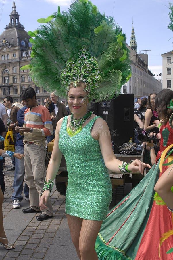 carival dansfestivalsamba royaltyfri bild