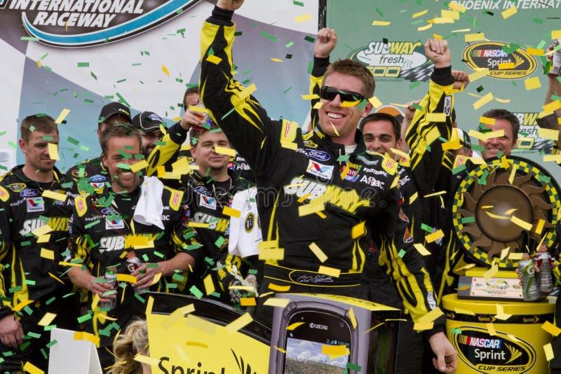 Motorista Carl Edwards do copo de NASCAR Sprint imagem de stock