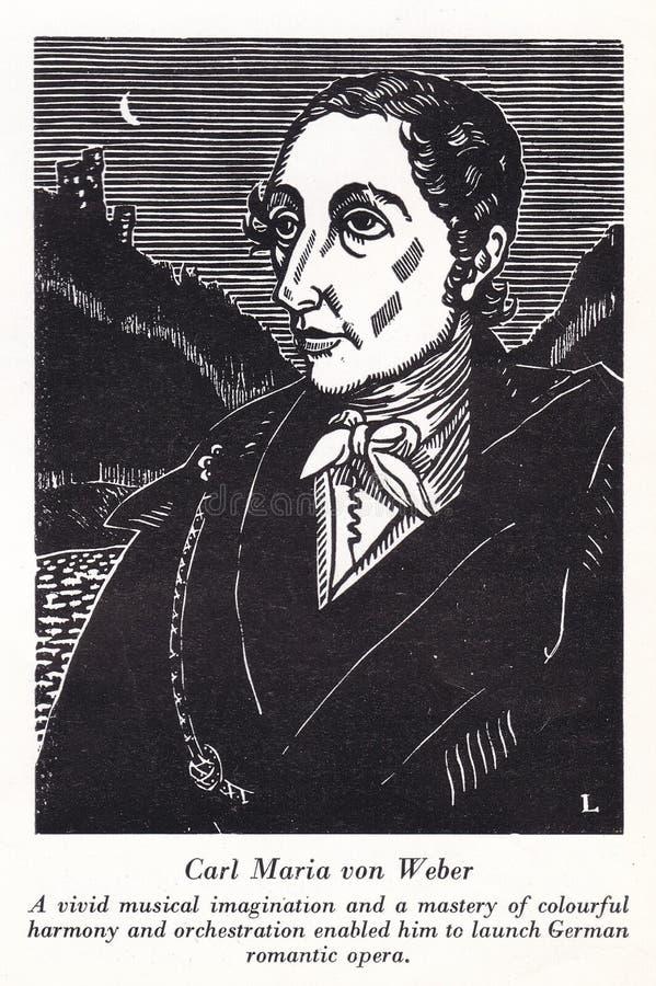 Carl Maria von Weber, compositor alemán de los siglos XVIII y XIX libre illustration
