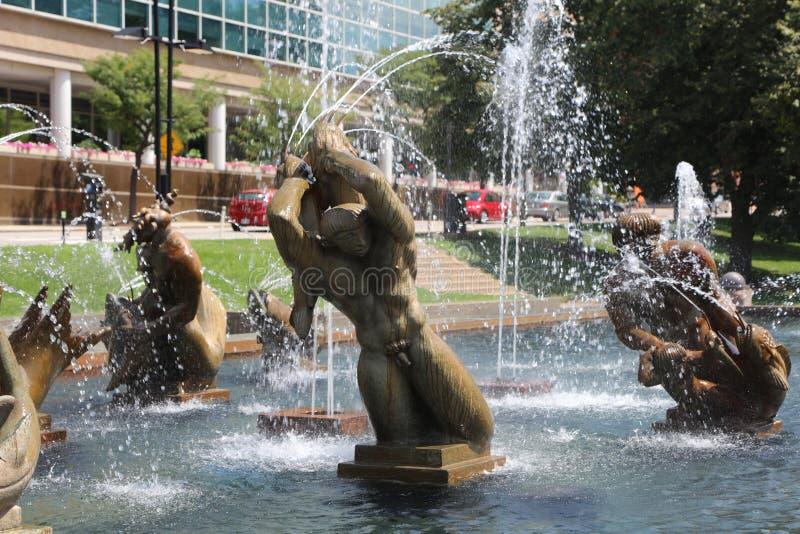 Carl Milles Fountain Sculpture, St Louis imagem de stock royalty free