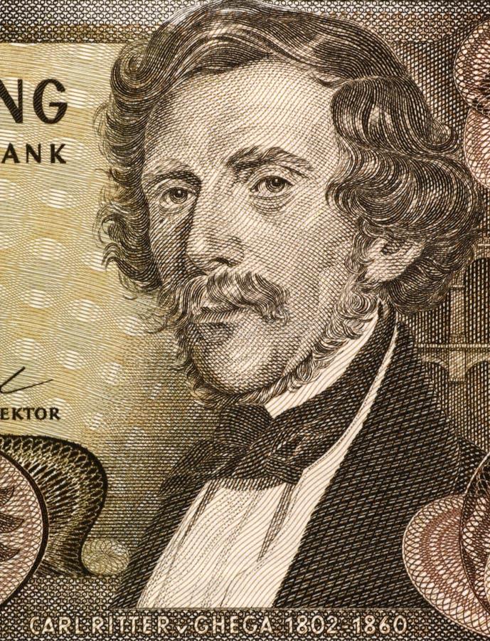 Carl Ritter von Ghega stock afbeeldingen