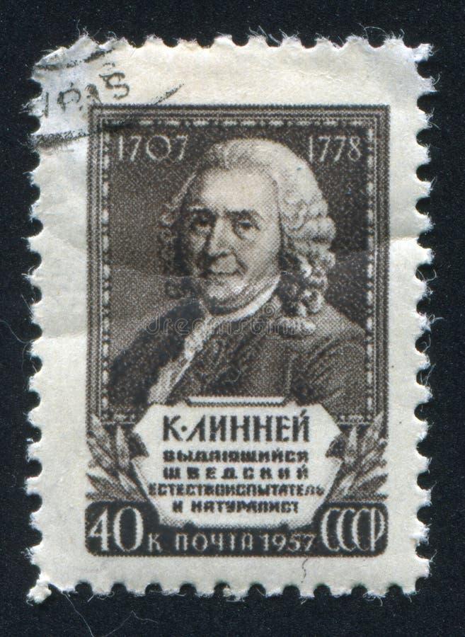 Carl von Linne royalty-vrije stock afbeeldingen