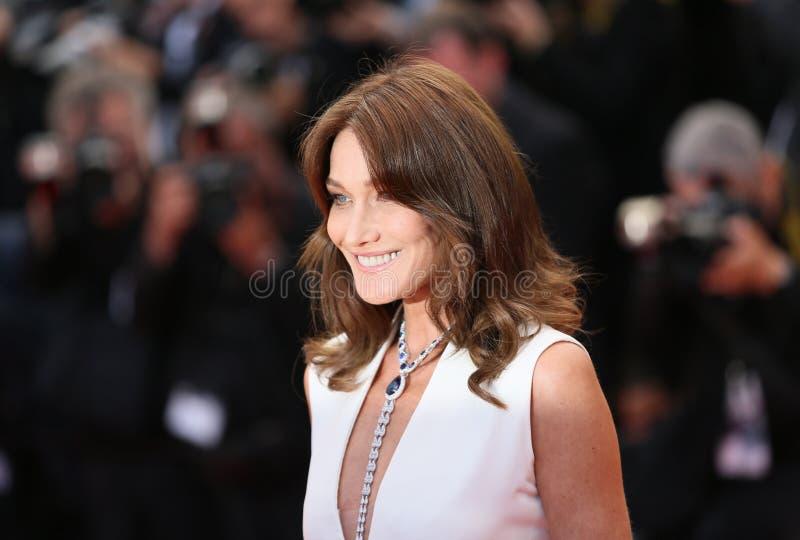 Carla Bruni na seleção de gala imagem de stock royalty free