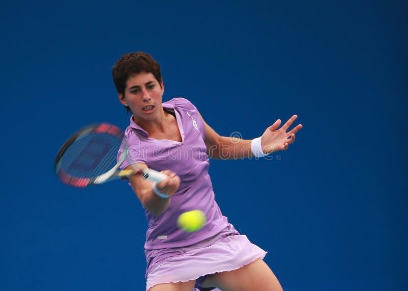 Carla Suarez Navarro, Spanien-Tennisstern lizenzfreies stockbild