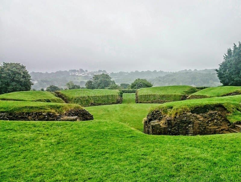 Carleon - Wales, Green landscape. stock photos