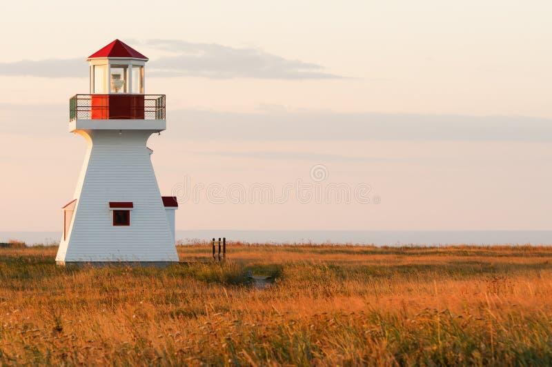 Carleton Lighthouse. During a nice september sunrise stock photography