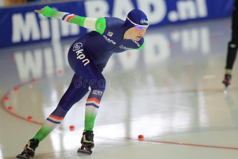 Carlijn Achtereekte - patinage de vitesse photos libres de droits