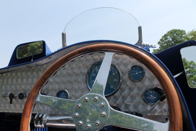Carlinga clásica del coche de carreras fotografía de archivo